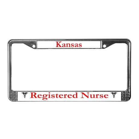 Kansas Registered Nurse License Plate Frame