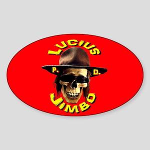 Jimbo Skull Sticker (Oval)