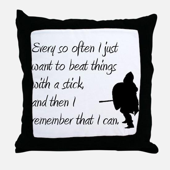 Beat with a Stick Throw Pillow