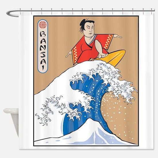 Funny Bansai Shower Curtain