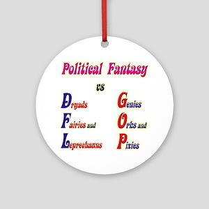 Political Fantasy Ornament (Round)