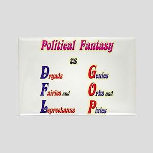 Political Fantasy Rectangle Magnet