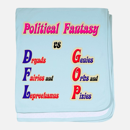 Political Fantasy baby blanket