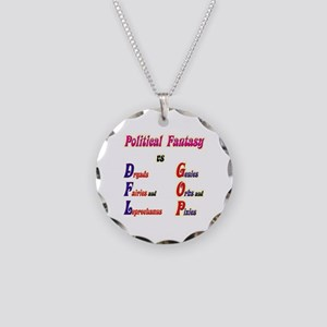 Political Fantasy Necklace Circle Charm