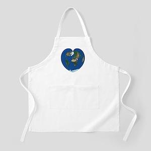 World Map Heart: Apron