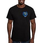 World Map Heart: Men's Fitted 2 T-Shirt (dark)