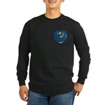World Map Heart: Long Sleeve Dark 2 T-Shirt