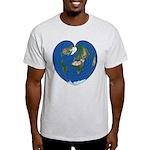 World Map Heart: Light T-Shirt