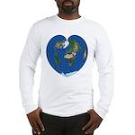 World Map Heart: Long Sleeve T-Shirt