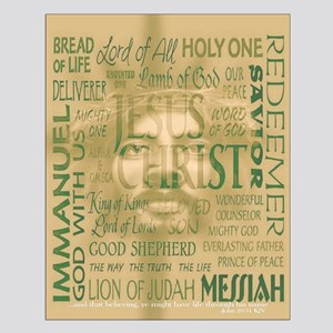 Names of Jesus - Bronze Small Poster