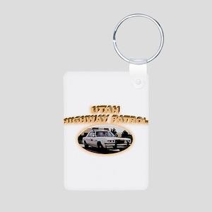 Utah Highway Patrol Aluminum Photo Keychain