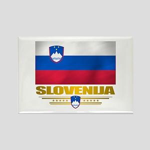 """""""Slovenia Flag"""" Rectangle Magnet"""