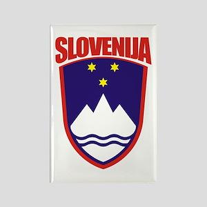"""Slovenia COA"" Rectangle Magnet"