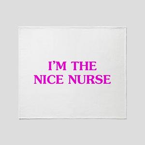 Pink Nice Nurse Throw Blanket