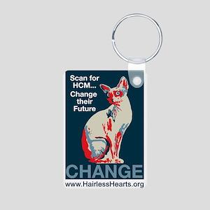 Hairless Hearts Aluminum Keychain