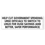 Help cut...Linux - Sticker (Bumper)