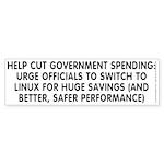Help cut...Linux - Sticker (Bumper 10 pk)