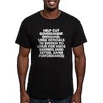 Help cut...Linux - Men's Fitted T-Shirt (dark)
