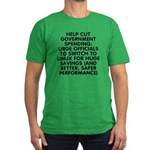 Help cut...Linux - Men's Fitted T-Shirt (dark)