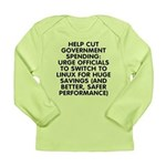 Help cut...Linux - Long Sleeve Infant T-Shirt