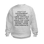Help cut...Linux - Kids Sweatshirt