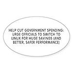 Help cut...Linux - Sticker (Oval 10 pk)