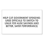 Help cut...Linux - Sticker (Rectangle 10 pk)