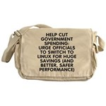 Help cut...Linux - Messenger Bag