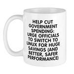 Help cut...Linux - Mug