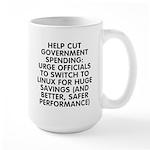 Help cut...Linux - Large Mug