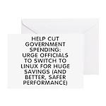 Help cut...Linux - Greeting Card