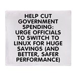 Help cut...Linux - Throw Blanket