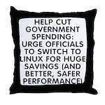 Help cut...Linux - Throw Pillow