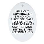 Help cut...Linux - Ornament (Oval)