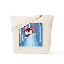 Little Cat Blue Tote Bag