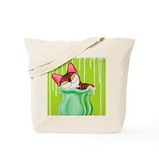 Little Cat Green Tote Bag