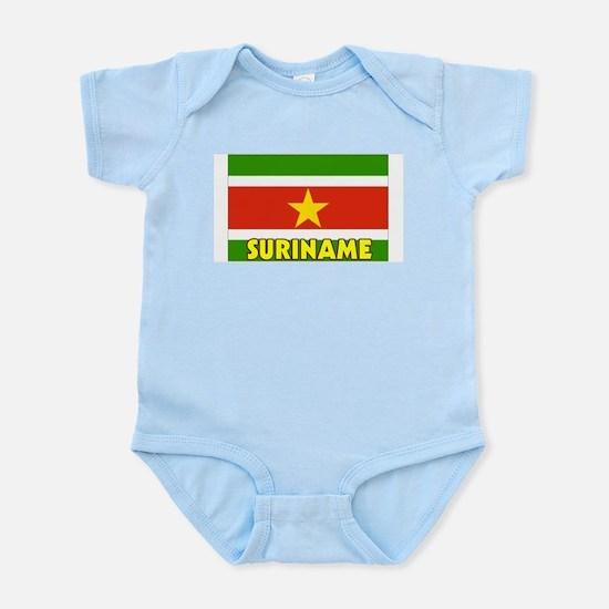 Suriname Flag Infant Creeper
