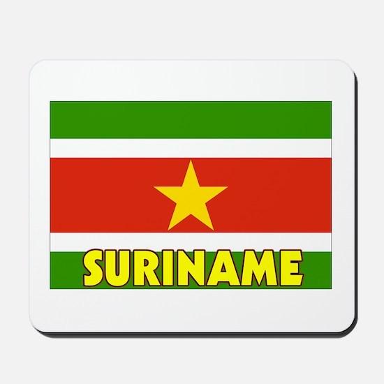 Suriname Flag Mousepad
