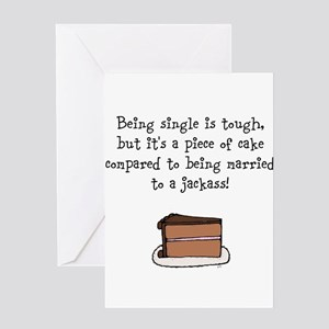 piece of cake 2 Greeting Cards