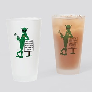 Stupid Humans Drinking Glass