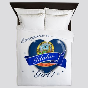 Idaho Girl Queen Duvet