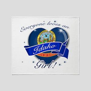 Idaho Girl Throw Blanket