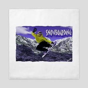 snowboarding Queen Duvet