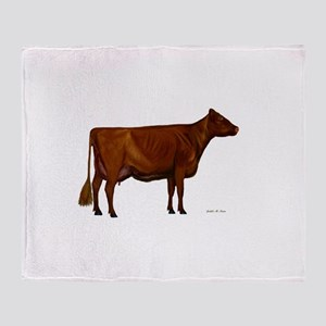 Shorthorn dairy cow Throw Blanket