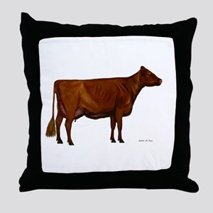Shorthorn dairy cow Throw Pillow