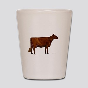 Shorthorn dairy cow Shot Glass