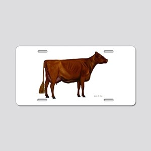 Shorthorn dairy cow Aluminum License Plate