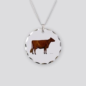 Shorthorn dairy cow Necklace Circle Charm