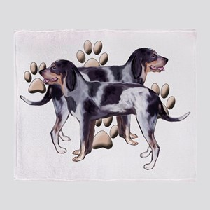 best friends coonhound Throw Blanket