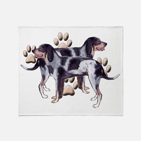best friends coonhound Throw Blanket